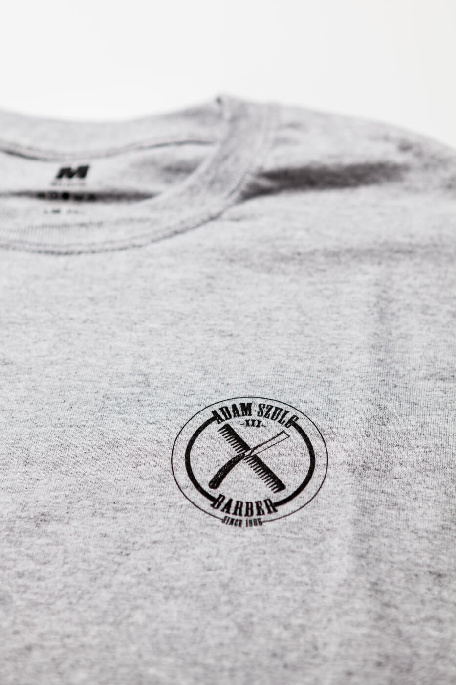 Koszulka Shave And Destroy Szara Gadżety Adam Szulc Barber